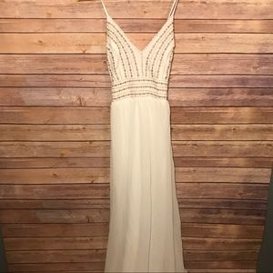 5a6b359469 Lulu s Dresses - Lulu s Maxi Dress Beaded Meet Me In Madrid Beach
